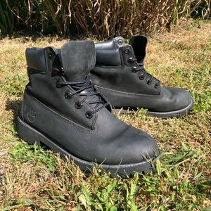 Black Timberland Waterproof Boots
